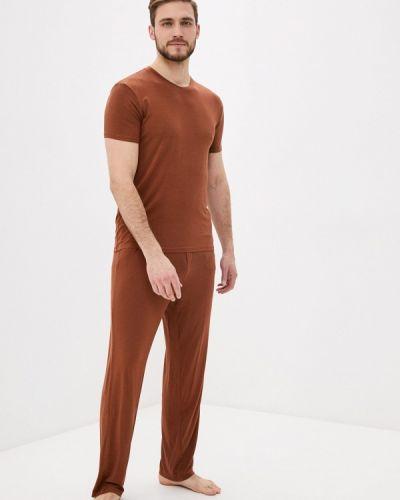 Коричневая пижамная пижама Hays