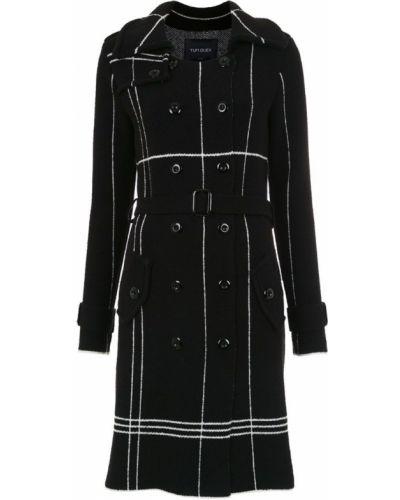 Пальто в клетку - черное Tufi Duek