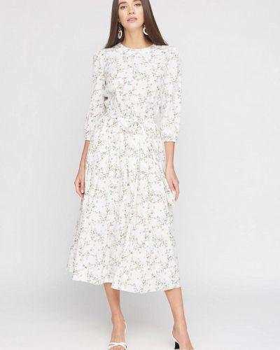 Прямое белое платье А-силуэта Cardo