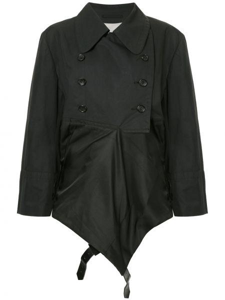 Черная куртка двубортная с поясом Comme Des Garçons Pre-owned