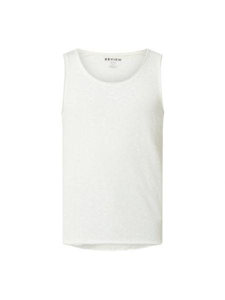 Bawełna bawełna biały top z dekoltem Review