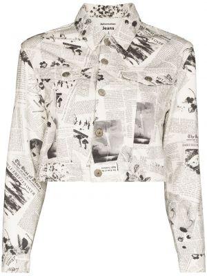 Хлопковая джинсовая куртка - белая Reformation