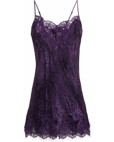 Koszula nocna bawełniana - fioletowa Lise Charmel
