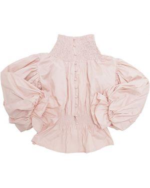 Różowa koszula bawełniana Nikolia