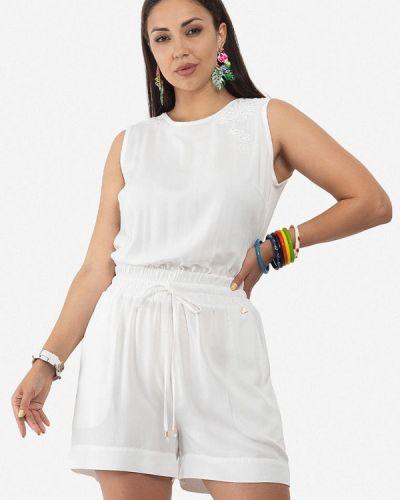 Комбинезон с шортами - белый O&j