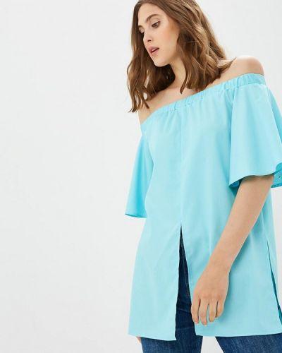 Голубая блузка с рюшами Vittoria Vicci