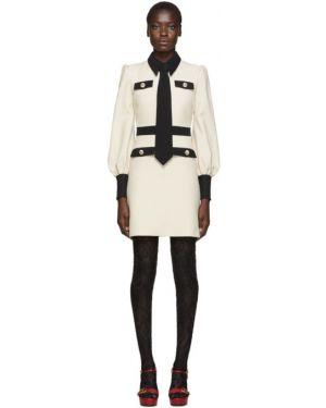 Платье макси на пуговицах с отложным воротником Gucci