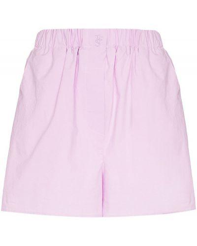 Розовые хлопковые шорты Frankie Shop
