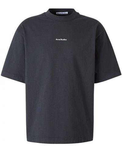 Szary t-shirt bawełniany oversize Acne Studios
