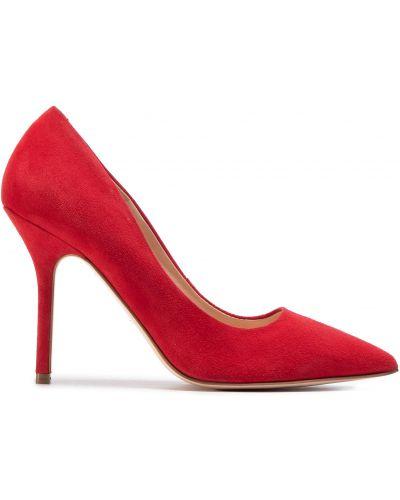 Туфли на каблуке - красные Eva Longoria