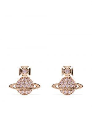 Серьги металлические - золотые Vivienne Westwood