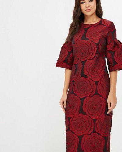 Вечернее платье осеннее красный Madam T