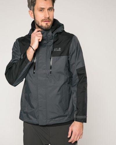 Черная куртка с капюшоном Jack Wolfskin