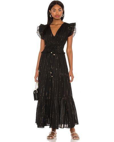 Хлопковое черное платье с подкладкой Karina Grimaldi