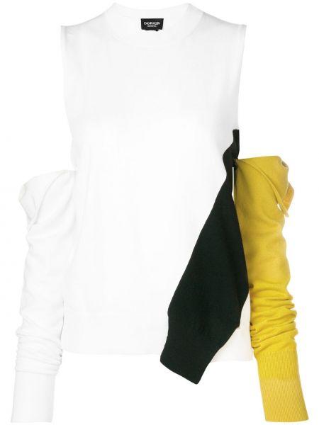 Топ асимметричный белый Calvin Klein 205w39nyc