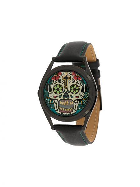 Часы с круглым циферблатом черные Mr Jones