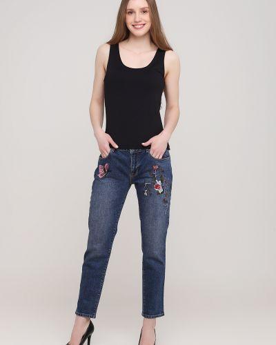 Голубые укороченные джинсы Kookai