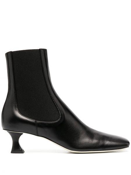 Skórzany czarny buty na pięcie na pięcie plac Proenza Schouler