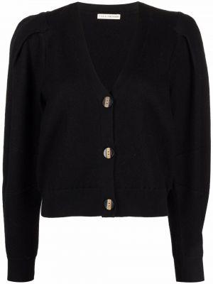 Czarny sweter z dekoltem w serek Ulla Johnson