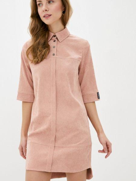 Платье розовое прямое Buono
