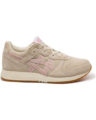 Розовые кожаные кроссовки с подкладкой Asics