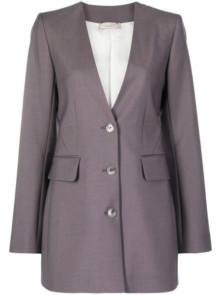 Однобортный приталенный удлиненный пиджак на пуговицах Nina Ricci