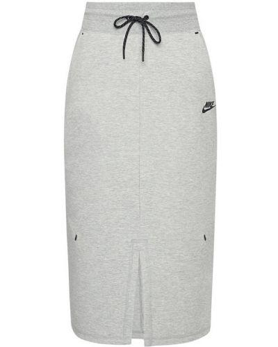 Szara spódnica midi Nike