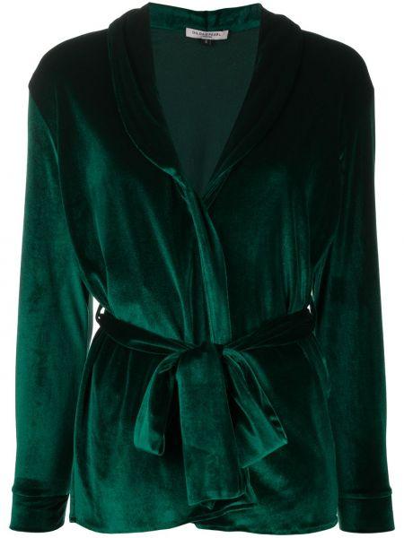 Зеленая с рукавами шелковая пижама Gilda & Pearl