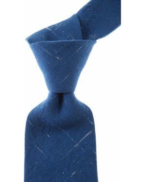 Biały krawat z jedwabiu Belvest