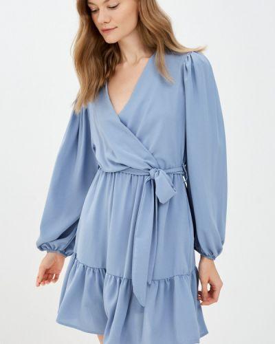 Платье с запахом - голубое Rinascimento