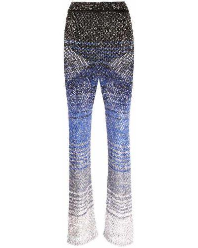 Niebieskie spodnie Missoni