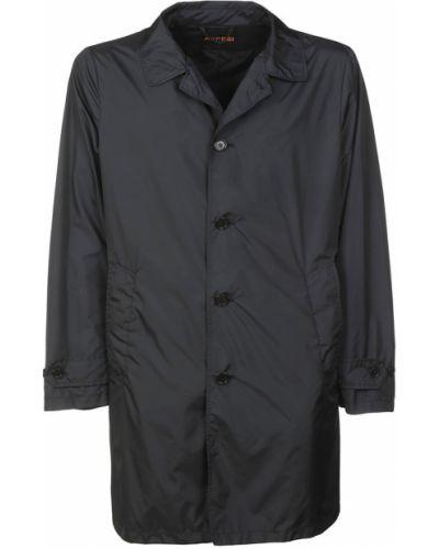 Czarny płaszcz casual Aspesi