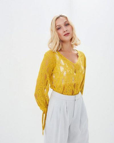 Желтая блузка кружевная Sweewe