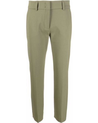 Zielone spodnie wełniane Piazza Sempione