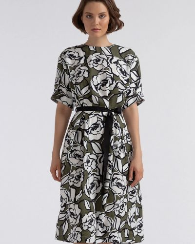 Платье миди зеленый хаки Lova
