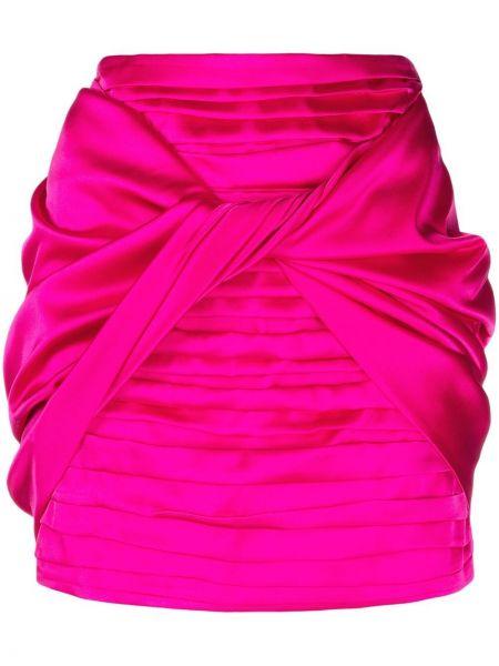 С завышенной талией прямая юбка мини с оборками Magda Butrym