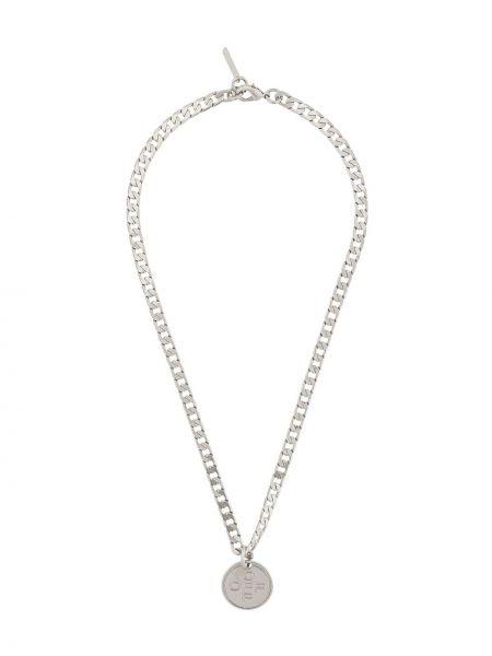 Ожерелье из серебра серебряный Off-white