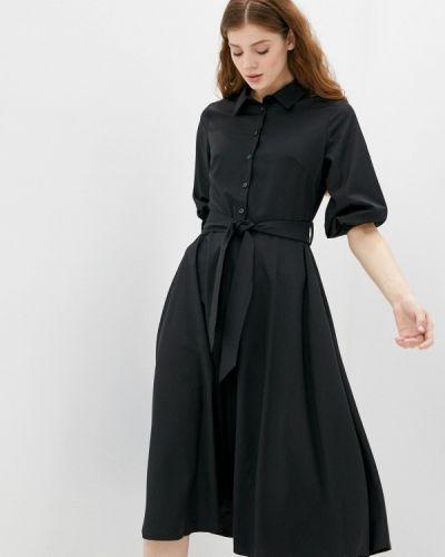 Прямое домашнее черное платье You&you