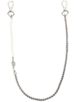 Серебряная цепочка из серебра с жемчугом Dsquared2