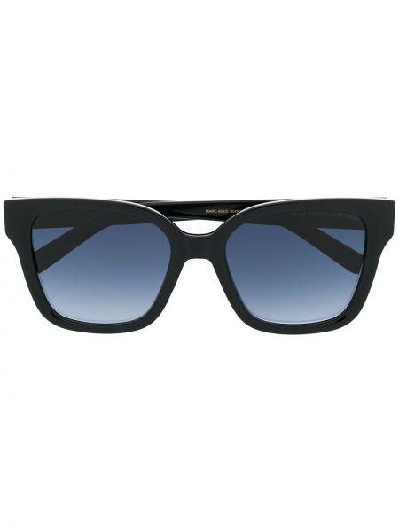 Прямые муслиновые черные солнцезащитные очки прямоугольные Marc Jacobs Eyewear