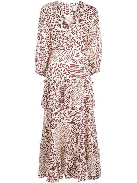 Платье миди облегающее с V-образным вырезом Alexis