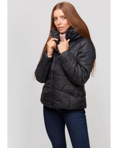 Теплая черная утепленная куртка Campione
