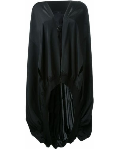 Накидка с капюшоном черная Yohji Yamamoto