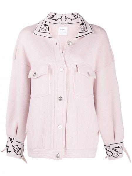 С рукавами розовая куртка оверсайз Barrie