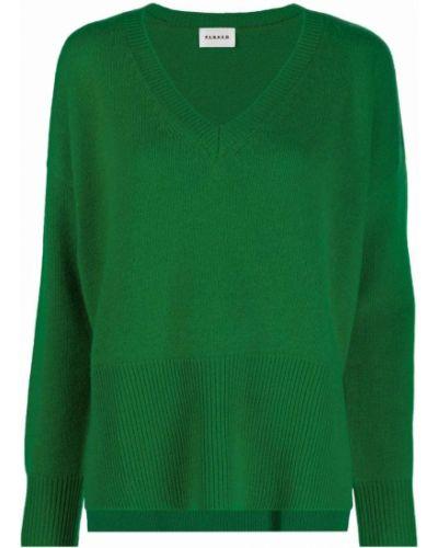 Зеленая кашемировая джемпер P.a.r.o.s.h.