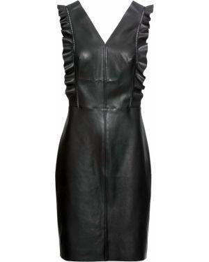 Платье мини с V-образным вырезом на молнии Bonprix