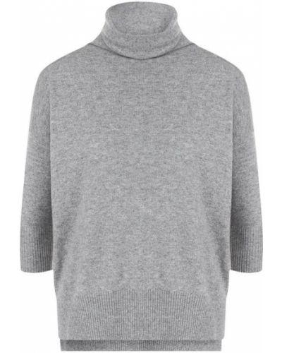 Серый свитер с воротником-стойкой Cruciani