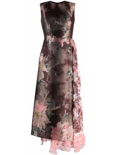 Różowa sukienka asymetryczna tiulowa Antonio Marras