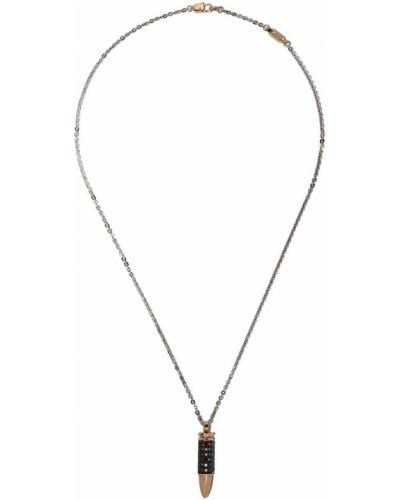 Серебряное ожерелье с бриллиантом с подвесками Zancan
