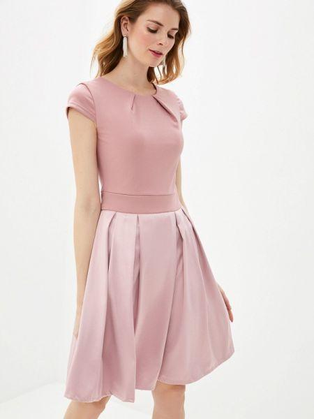 Платье розовое осеннее Pavesa